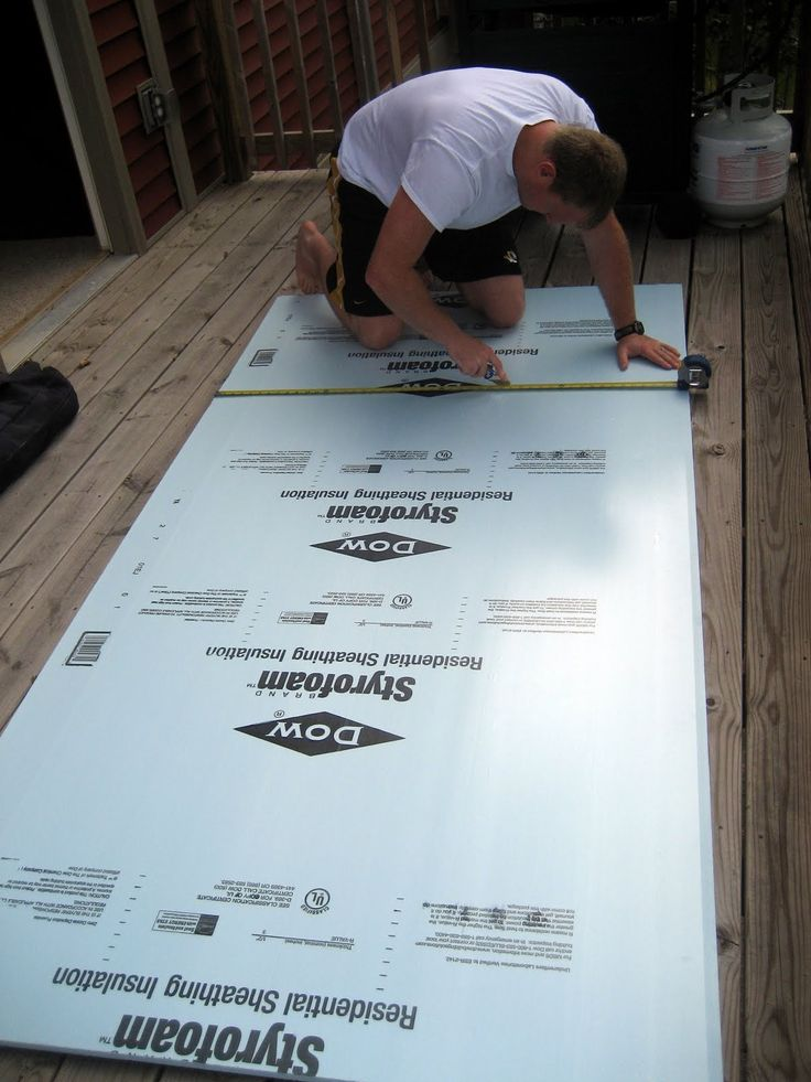 diy headboard fabric foamboard | We purchased a sheet of insulation from Lowe's, which Sean cut to size ...