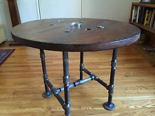 Large Wooden Spool Projects | Reclaimed Wooden Spool Table. A Carl Wit original.