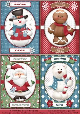 4 Kringle Co Toppers on Craftsuprint - Add To Basket!