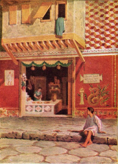 Street with shop front at Pompeii