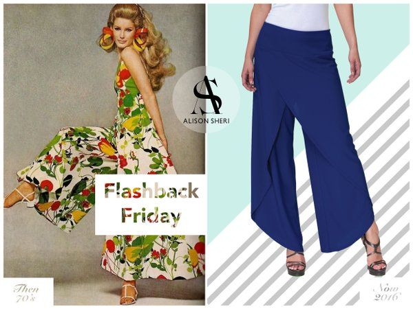 Last summer #Palazzo pants made a comeback and they are here to stay this season!  #flashback #FBF #FashionFriday