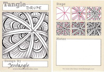 BEEZ in the Belfry: Tangle of the Week - Drupe