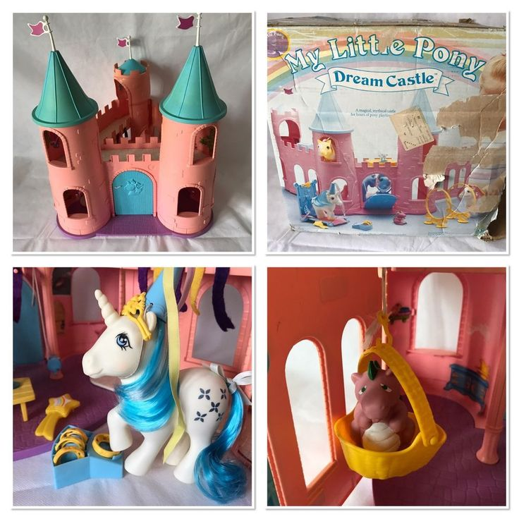Vintage My Little Pony G1 Dream Castle Playset With Box Near Complete.