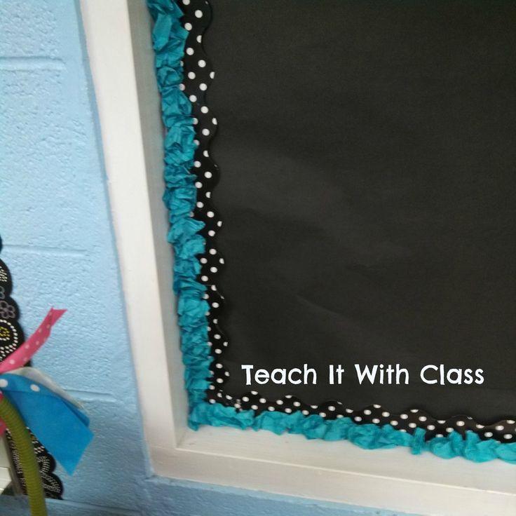 Teach it With Class: Video Tutorial: Scrunchy Bulletin Board Border