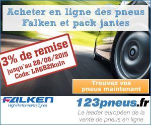 Pneu code de réduction pour la France. 3% de réduction sur les Falken pneus et les roues complètes