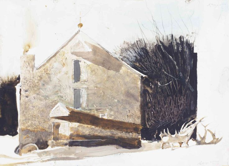 andrew wyeth. his work could do no wrong. especially his early water colors.