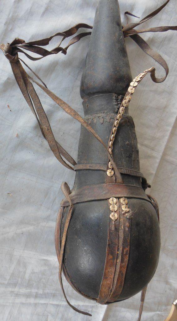 Antique Samburu Carved Milk Jug 20 Inches Kenya Africa