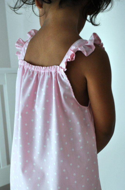 DIY sewing tutorial for little girl's summer nightgown- easy and so cute!
