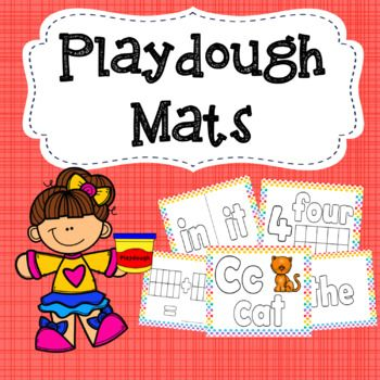 This pack contains 59 different playdough mats. These mats are designed to be laminated so students can use the playdough on top of the mat. Included in this pack: - 26 alphabet mats with upper and lower-case letters, pictures and words. - 10 number mats with numbers, written numbers, and tens frames to make the number. - 30 sight-words (spread over 22 mats). - 1 mat with tens frames to assist addition (can be printed multiple times if desired).