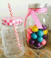 idée de cadeau swap: la jar avec sa paille