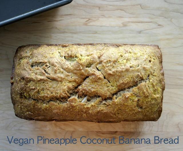Vegan Pineapple Coconut Banana Bread