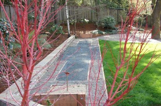 horseshoe pit landscape mediterranean with landscaped backyard metal fire bowls and pits