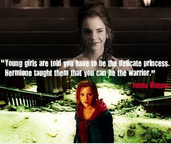hermione-memes-28...though really I think that Hermione taught me you can be both.  She was the warrior most of the time, but she still enjoyed being a girl, like for the Yule Ball