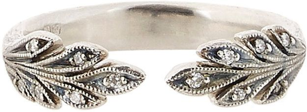Diamond & Platinum Leaf Band, $3,320 | 40 Beautiful Wedding Bands That Are To Die For
