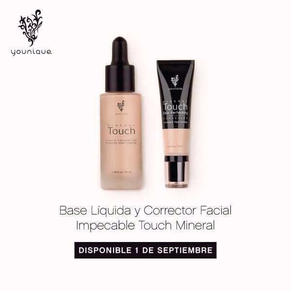 Base liquids y corrector facial impecable Touch Mineral de Younique!! Ordenarle aqui: www.mascara3Dmex.com