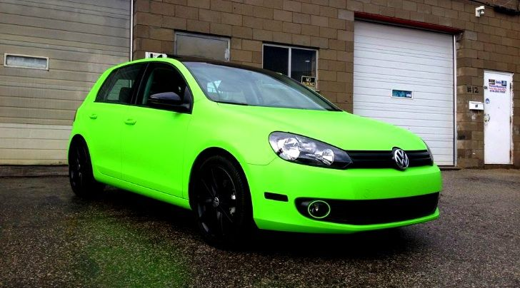 Green Car From Cars: Vinyl Wrap For Autos