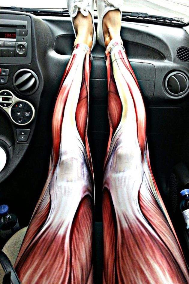 Muscle leggings! Perfect cold weather attire for you while massaging clients!!! Love my RMT sister!!!