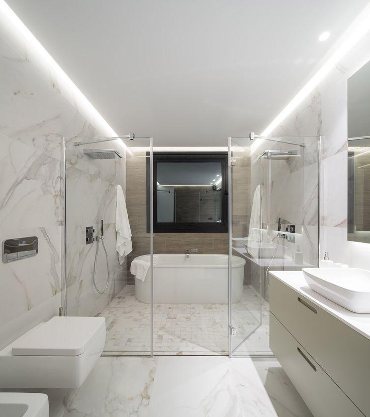 Las 25 mejores ideas sobre ducha doble en pinterest - Como colocar marmol ...