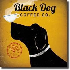 Black Dog Coffee co Art Print