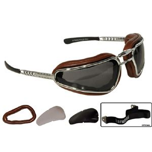 Baruffaldi Motorcycle Goggles - Baruffaldi Easy Rider Goggles Chocolate - 175008