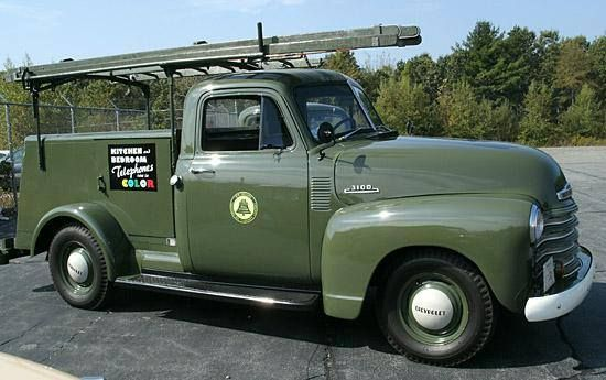 Old phone utility truck