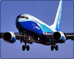 Boeing 737 landing photo
