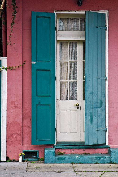 Door. Shutters. Pink. Simply lovely in the French Quarter, New Orleans, LA