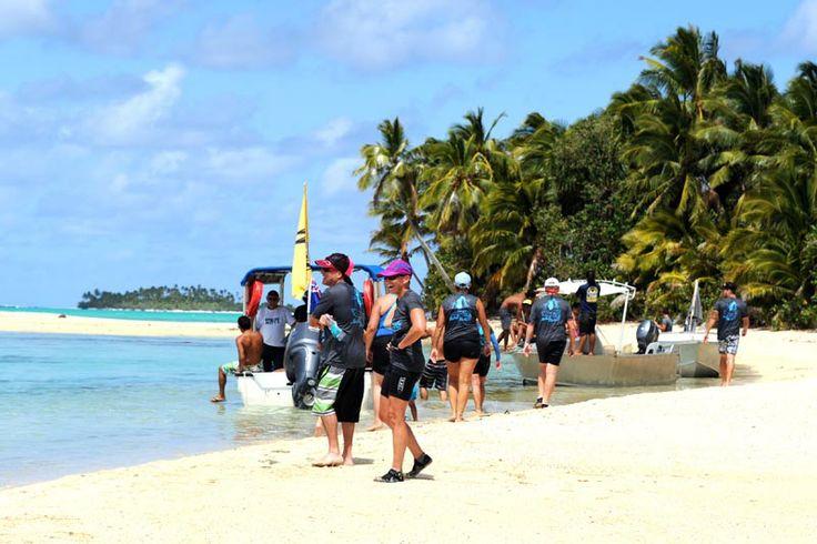 Paddle Aitutaki's stunning lagoon after Vaka Eiva - Motu 2 Motu. Cook Islands Dec 2014