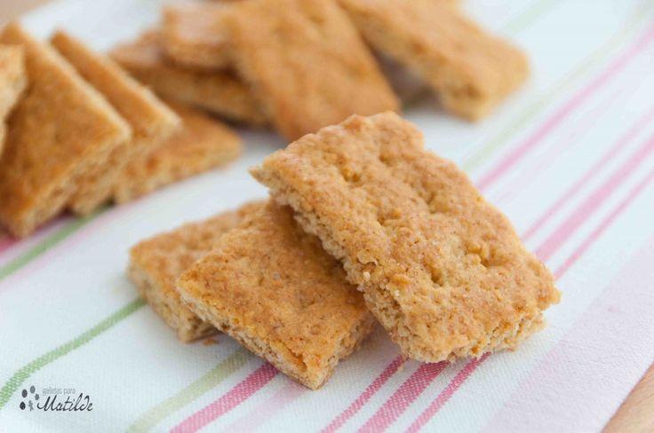 Receta de Graham crackers® caseras. Las famosas galletas integrales americanas perfectas para bases de tarta o para disfrutar solas