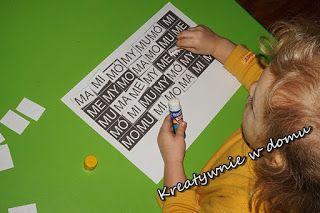 Nauka czytania przez zabawę - ćwiczymy spostrzegawczość   Kreatywnie w domu