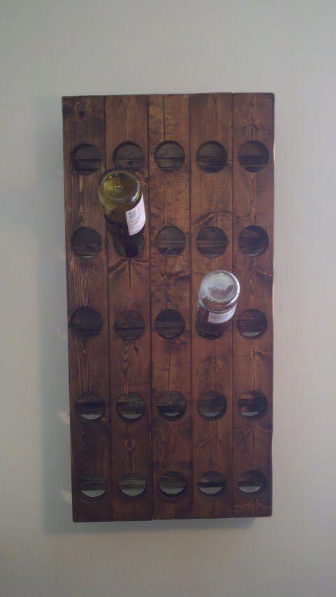 Riddling rack for the home pinterest riddling rack for Pottery barn wine rack wood