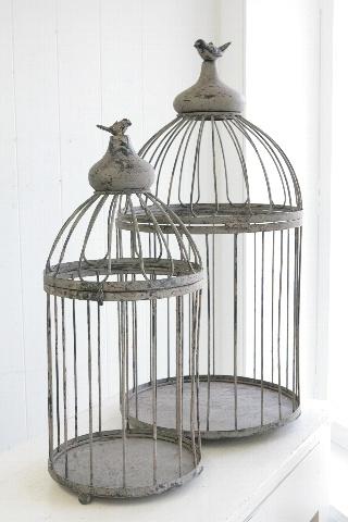 【送料無料】アンティーク風 クレア・プランツケージ2点セット| バードゲージ|鳥かご|鳥カゴ|鳥ケージ|インテリア かわいい おしゃれ【楽天市場】