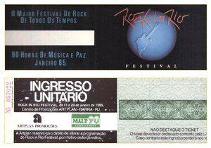 PROPALARE: Ingresso Rock in Rio I e Guia do Festival