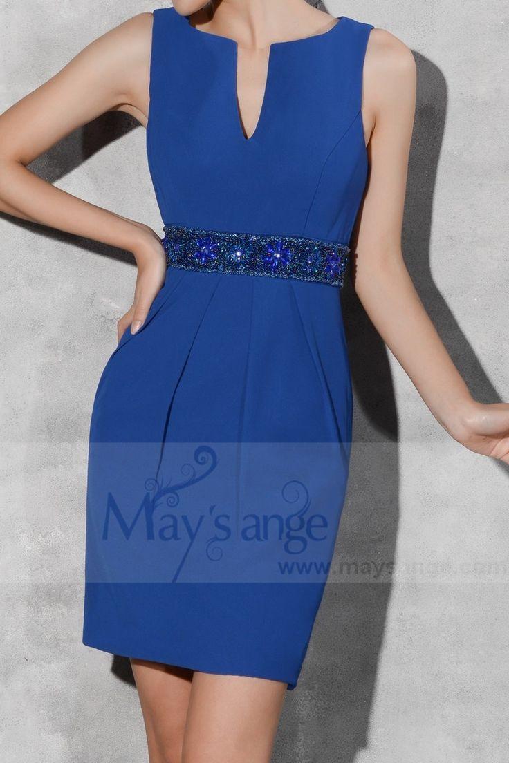 robe de fete courte bleu roi