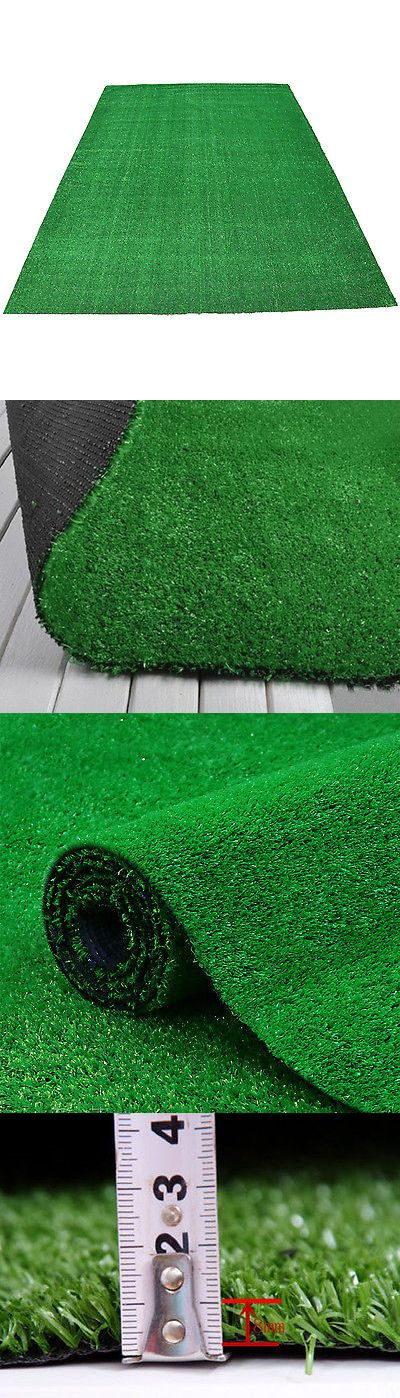 Great Other Rugs And Carpets 8409: 6.5 X13 Green Artificial Grass Area Rug Indoor  Outdoor Synthetic