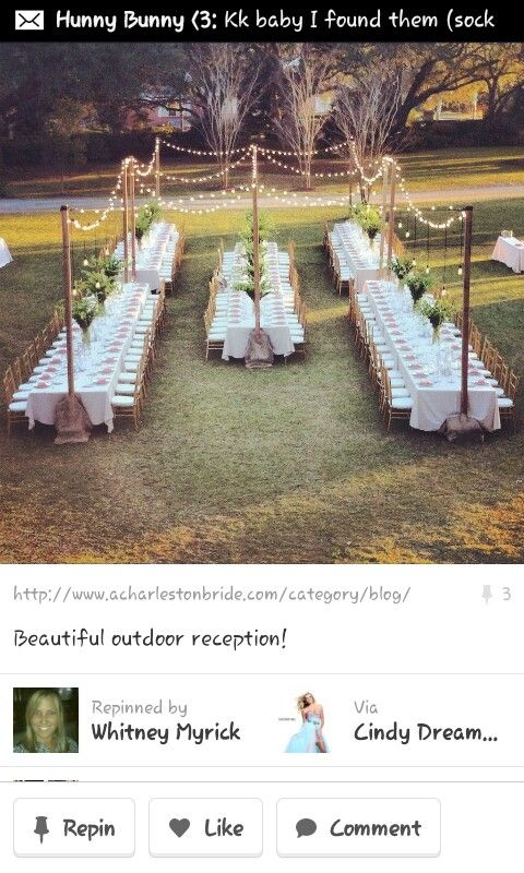 This is perfect!!!Outside wedding idea