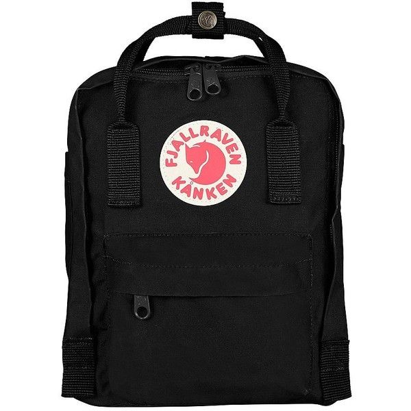 Fjallraven Mini Backpack ($65) ❤ liked on Polyvore featuring bags, backpacks, black, mini backpack, day pack backpack, mini rucksack, fjällräven and mini bag