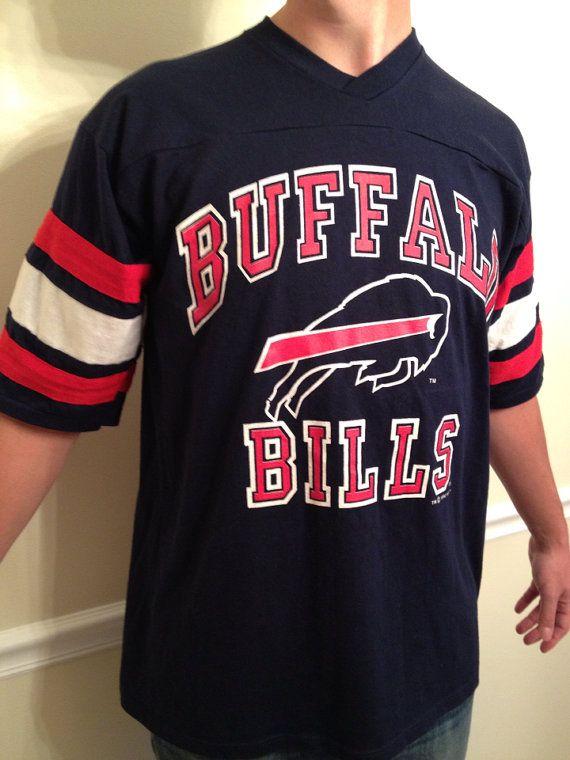 Vintage buffalo bills jersey t shirt 1992 shirts jersey for Buffalo bills t shirt jersey