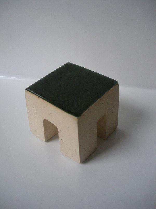 """Fabio J. Fernández, Gateways, glazed stoneware, 1.5""""h x 1.75"""" x 1.75"""", 2012"""