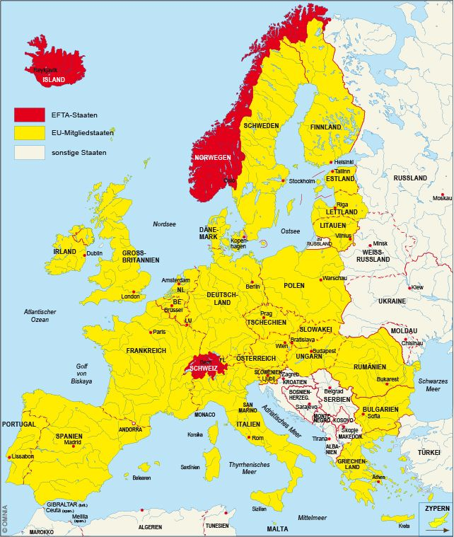 Eu Karte Europa Europa Karte Eu Karte Landkarte Europa Karten
