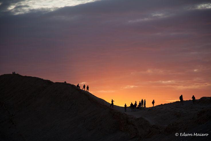 Pôr do sol no Vale de la Luna
