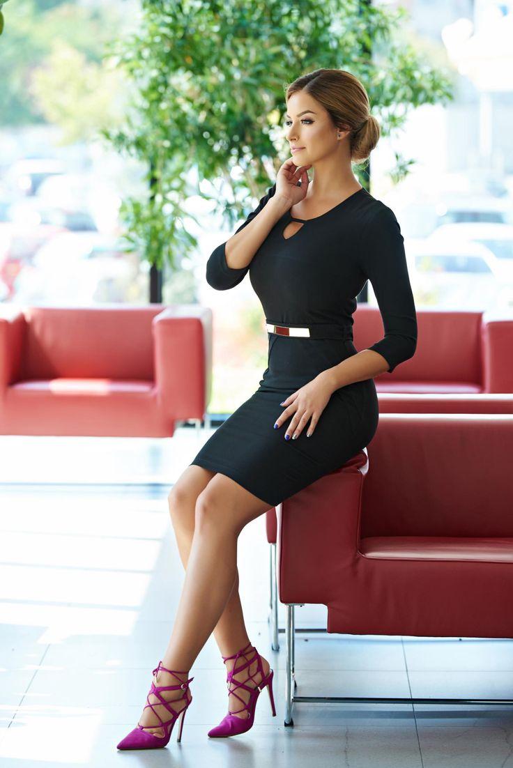 Rochie PrettyGirl Absolute Black. Rochie PrettyGirl, scurta, se muleaza dupa…