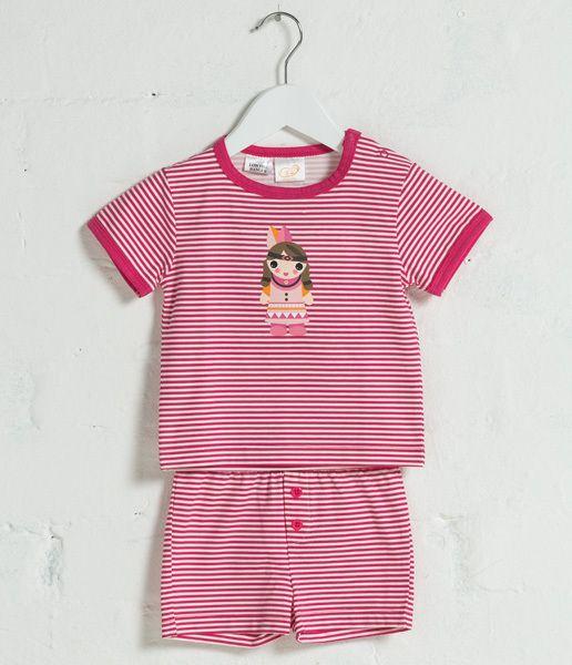 Gingerlilly Sleepwear and Pyjamas - Zara  Boxed cotton elastane pink yarn dye stripe two piece pyjama set