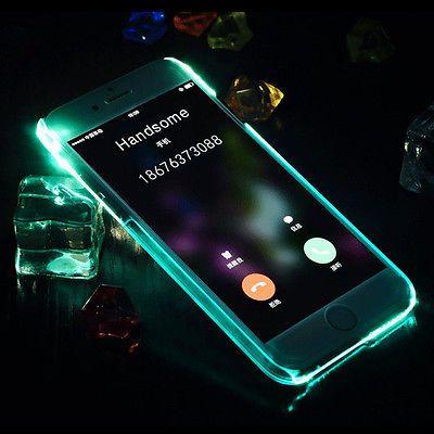 Bling-LED-Light-Up-Selfie-Luminous-Phone-Back-Cover-Case-For-iPhone-5-6-6s-Plus