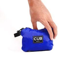 CUB TRAVELER Hobo Nylon Bag Blue Benhur (folded side), #bags #minirucksack #outdoor #slingbag #products #traveling #traveler #urbantraveling #travelgear #hobo #nylon #apparel #holiday #vacation #dailypack