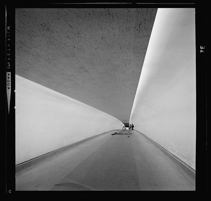 Idlewild Airport designed by Eero Saarinen, photo by Balthazar Korab