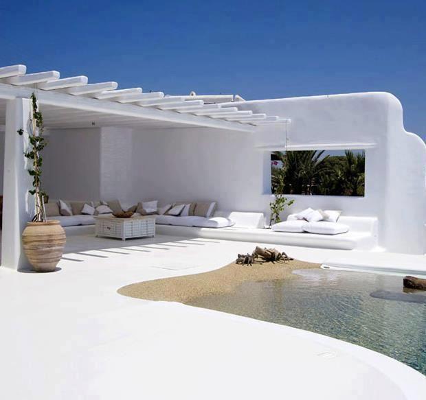 Playa en la terraza.