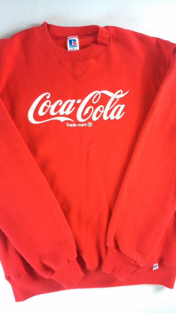 #CocaCola Sweatshirt Russell Athletic USA Made Adult SZ M http://etsy.me/1ktdS4A…