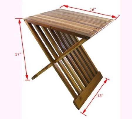 Amazon.com: Teak Wood Folding Shower Seat, Bench, Stool - Bath, Sauna Seating: Health & Personal Care