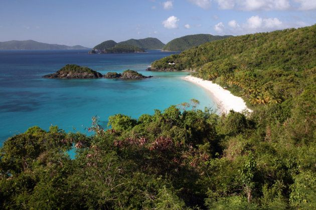 Trunk Bay is in the Virgin Islands National Park. It's a beautiful combination of wilderness and beach. (Photo: Getty Images)